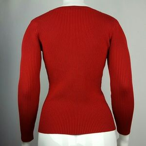 New York & Company Sweaters - New York & Company Red V-Neck Sweater
